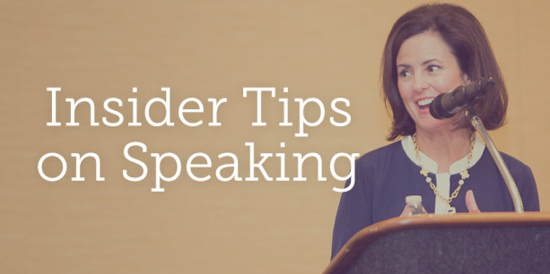 Insider Tips on Speaking