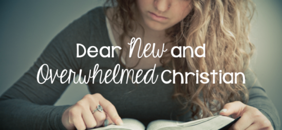 Dear New and Overwhelmed Christian