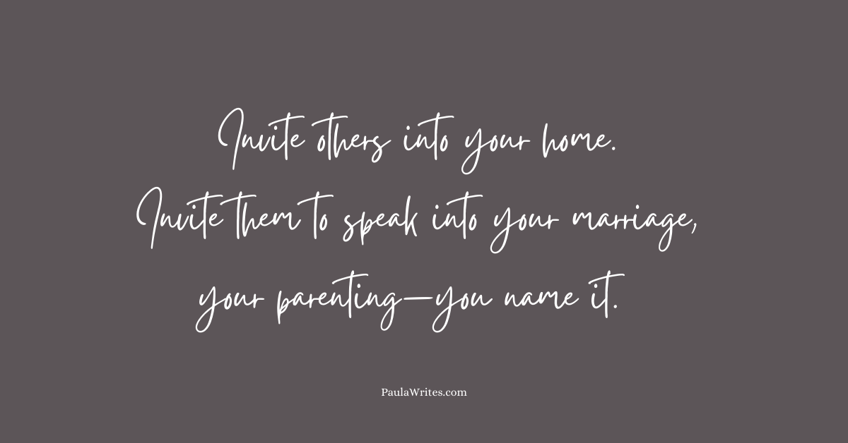 quote about inviting others to speak into your life